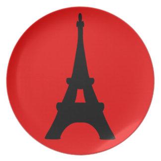 The Eiffel Tower, Paris, France Plate