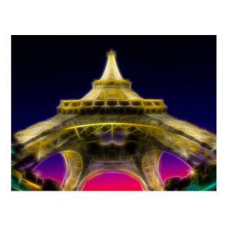 The Eiffel Tower, Paris, France Postcard