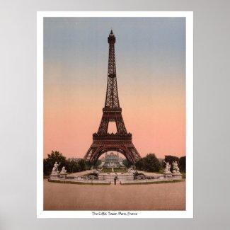 The Eiffel Tower, Paris, France print