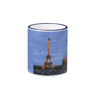 The Eiffel Tower Paris France Ringer Mug