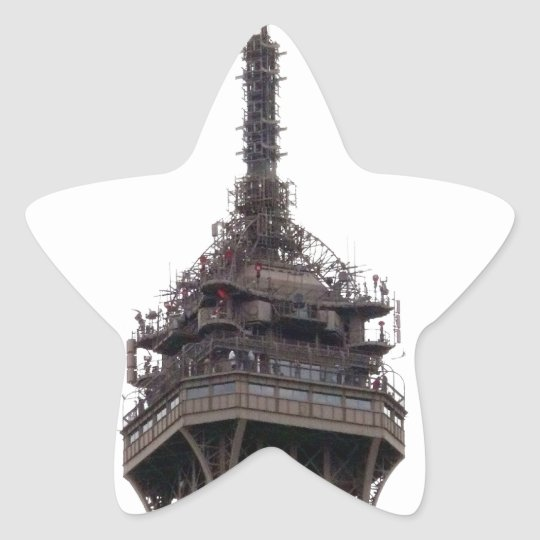 The Eiffel Tower Paris France Star Sticker
