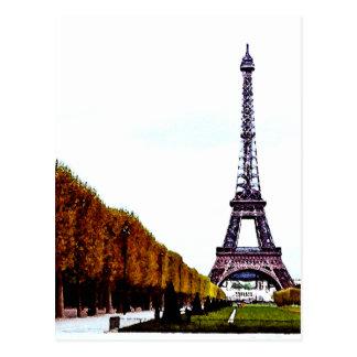 The Eiffel Tower - Paris Postcard