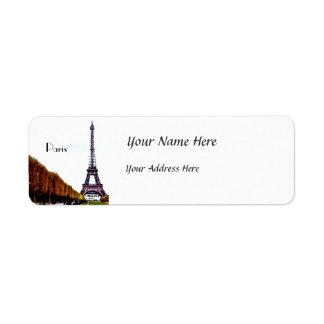 The Eiffel Tower - Paris Return Address Label