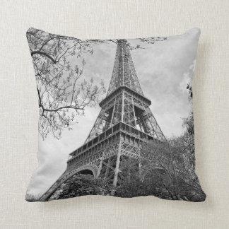 the Eiffel tower Throw Pillows