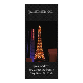 The Eiffel Tower Reproduction At Paris Las Vegas Rack Card Design