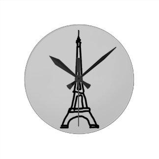 The Eiffel Tower Round Clock