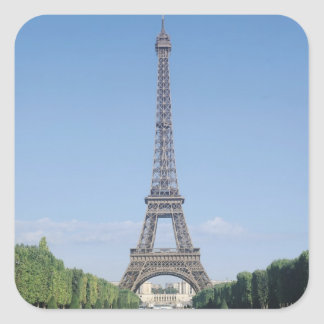 The Eiffel Tower Square Sticker