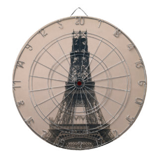 The Eiffel Tower: State of the Construction 1888 Dartboard With Darts