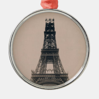 The Eiffel Tower: State of the Construction 1888 Christmas Tree Ornament