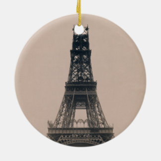 The Eiffel Tower: State of the Construction 1888 Christmas Tree Ornaments