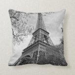 the Eiffel tower Throw Pillow