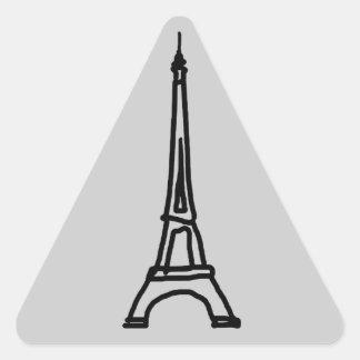 The Eiffel Tower Triangle Sticker