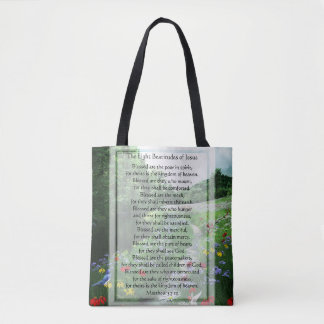 The Eight Beatitudes of Jesus All Over Tote Tote Bag