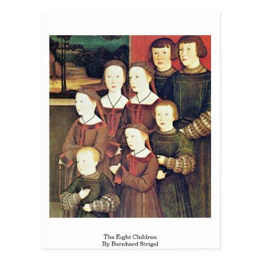 The Eight Children By Bernhard Strigel Post Cards