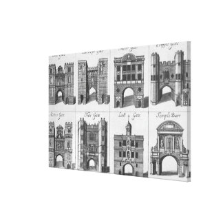 The Eight Gates of the City of London Canvas Print