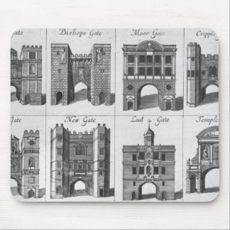 The Eight Gates of the City of London Mouse Pad