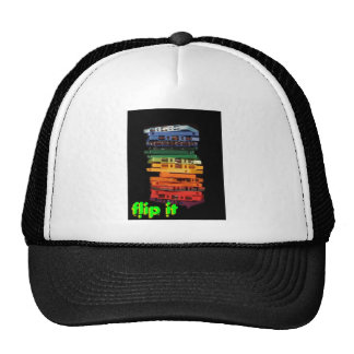 The eighties rainbow colored casette tapes trucker hats