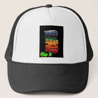 The eighties rainbow colored casette tapes trucker hat
