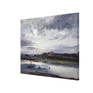 The Elbe and the New Town, Dresden Canvas Print