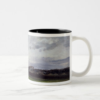 The Elbe and the New Town, Dresden Two-Tone Coffee Mug