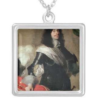 The Eldest Son of Pierre Corneille Square Pendant Necklace