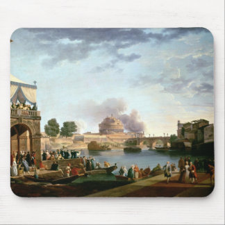 The Election of the Pope with Castel St. Mouse Pad
