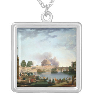 The Election of the Pope with Castel St. Silver Plated Necklace