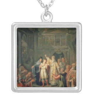 The Election of the Tsar Michael Romanov Silver Plated Necklace