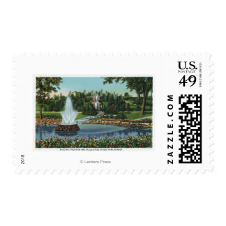 The Electric Fountain and Falls Stamps