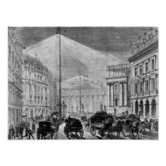 The Electric Light at the Mansion House Poster