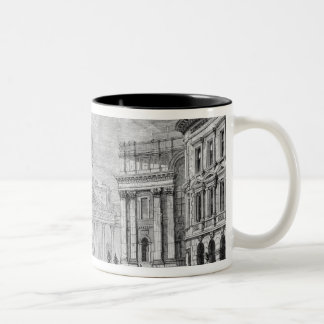 The Electric Light at the Mansion House Two-Tone Coffee Mug