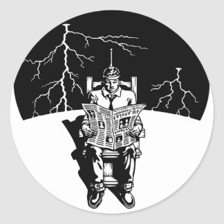 The Electrical Chair Classic Round Sticker
