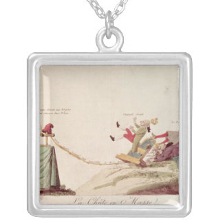 The Electrical Spark of Liberty' Silver Plated Necklace