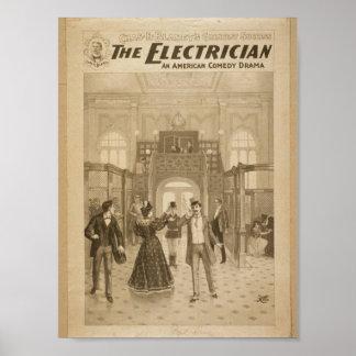 The Electrician Retro Theater Print