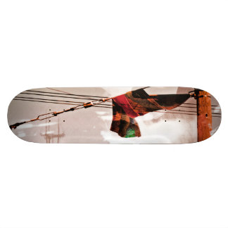 The Electrik Flagg Orange red green Custom Skateboard