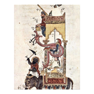 The Elefantenuhr By Syrischer Maler Um 1315 Flyer
