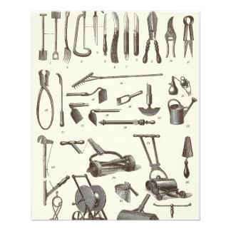 """The Elegant Gardener - Antique Garden Tools 4.5"""" X 5.6"""" Flyer"""