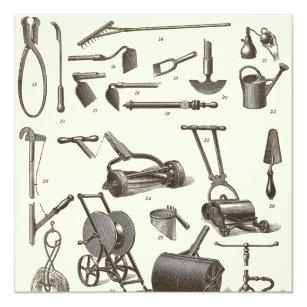 Lovely The Elegant Gardener   Antique Garden Tools Card