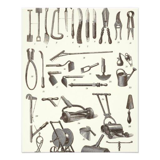 The Elegant Gardener - Antique Garden Tools Flyers