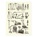 The Elegant Gardener - Antique Garden Tools Postcard