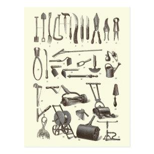 Delicieux The Elegant Gardener   Antique Garden Tools Postcard