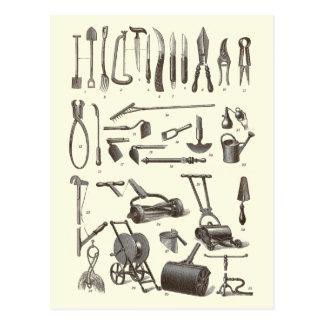 The Elegant Gardener - Antique Garden Tools Post Card