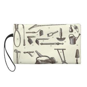 The Elegant Gardener   Antique Garden Tools Wristlet Purse