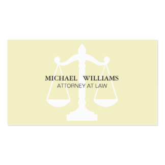 The Elegant Lawyer Classic Cleaning Simple Cream L Business Card Templates