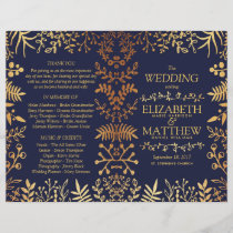 The Elegant Navy & Gold Floral Wedding Collection