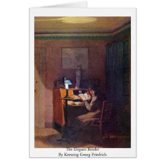 The Elegant Reader By Kersting Georg Friedrich Card