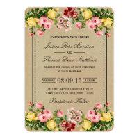 The Elegant Vintage Floral Wedding Collection Invitation