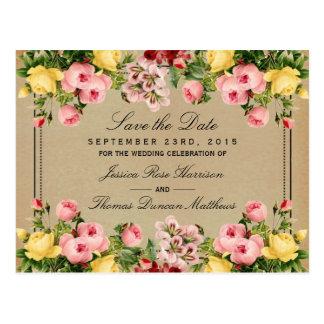 The Elegant Vintage Floral Wedding Collection Postcard