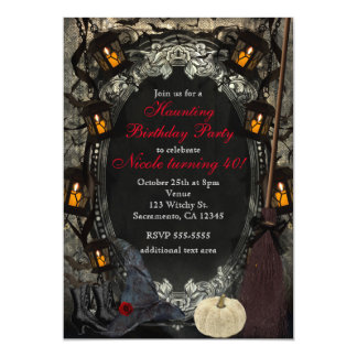 The Elegant Witch Classy Birthday Halloween Party Card