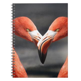 The elegent birds - the symbol for love spiral notebook
